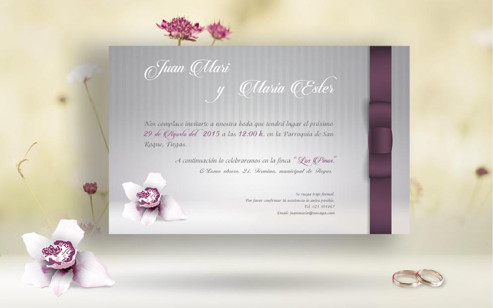 Diseño gráfico invitación bodas