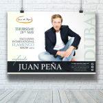 diseño gráfico cartel Juan Peña