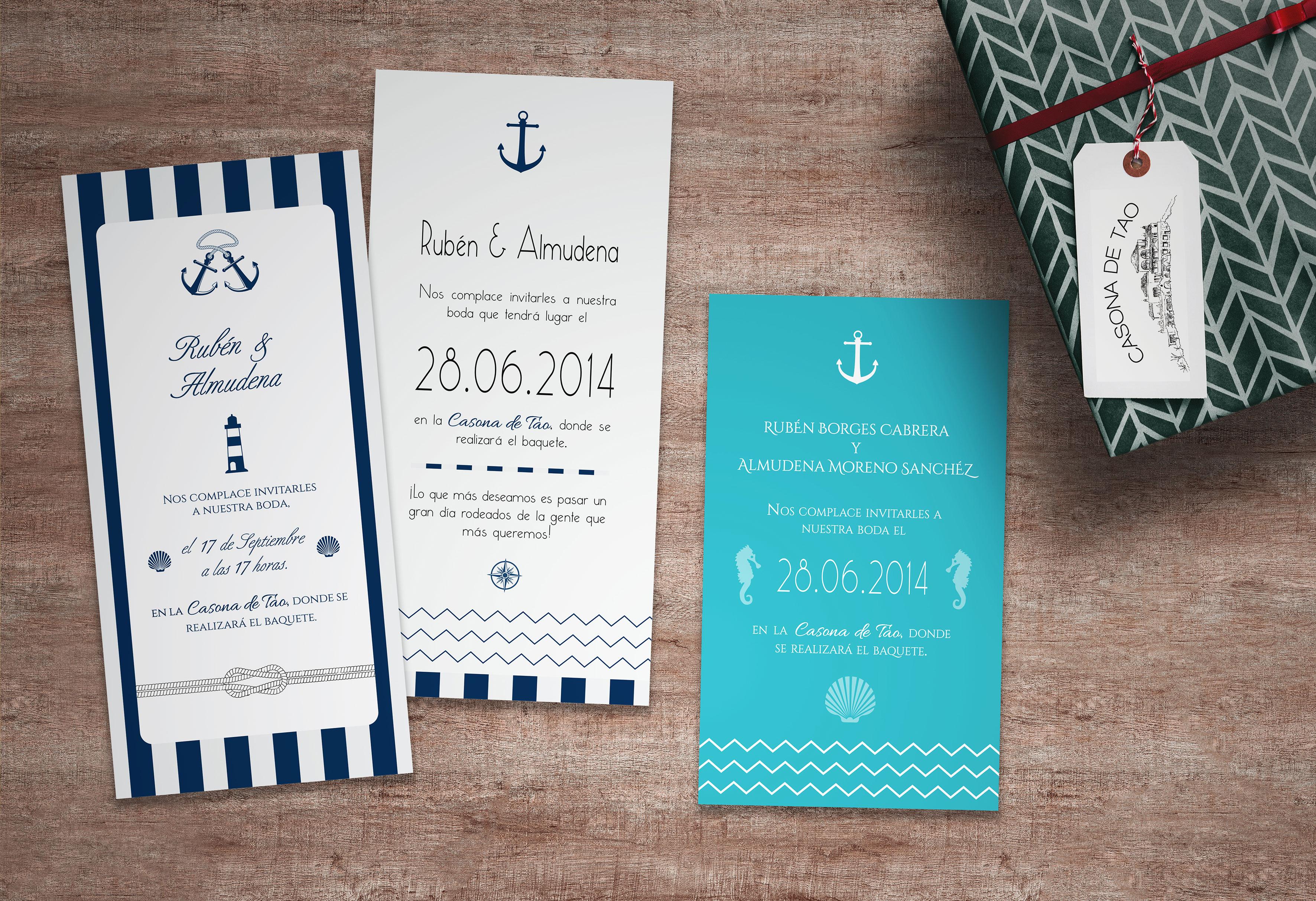 diseño gráfico invitación boda