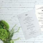 Diseño gráfico menús boda