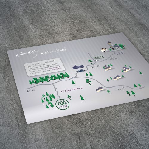 Diseño gráfico mapa boda