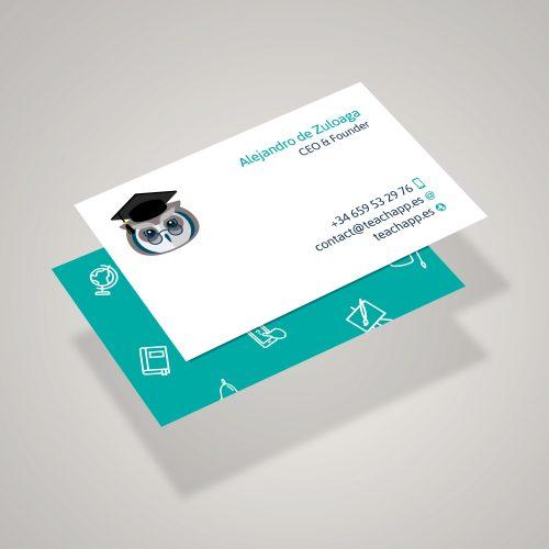 diseño tarjeta visita
