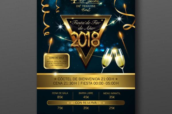 Poster Fin de Año El Jardín de Teguise