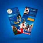 flyer diseño educación